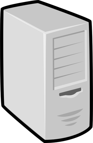 computer unit with thick black border vector clip art.