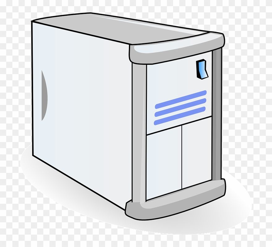 Computer System Unit Cartoon Clipart (#81073).