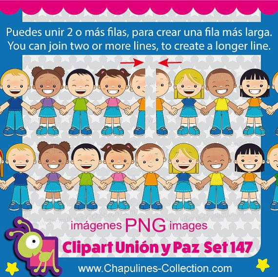 Union and Peace Clipart, United Nations day, kids clipart.