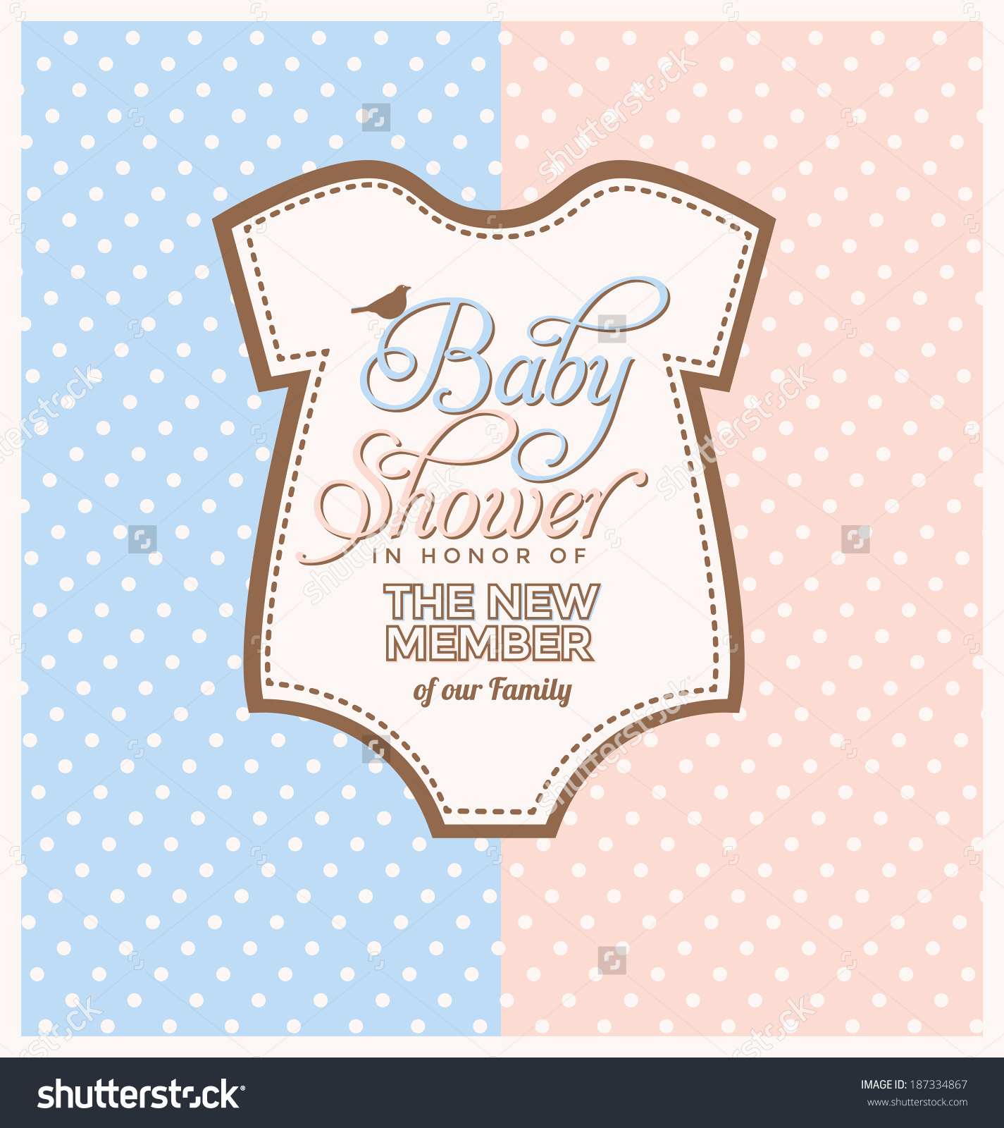 Cute Unisex Baby Shower Design Template Stock Vector 187334867.