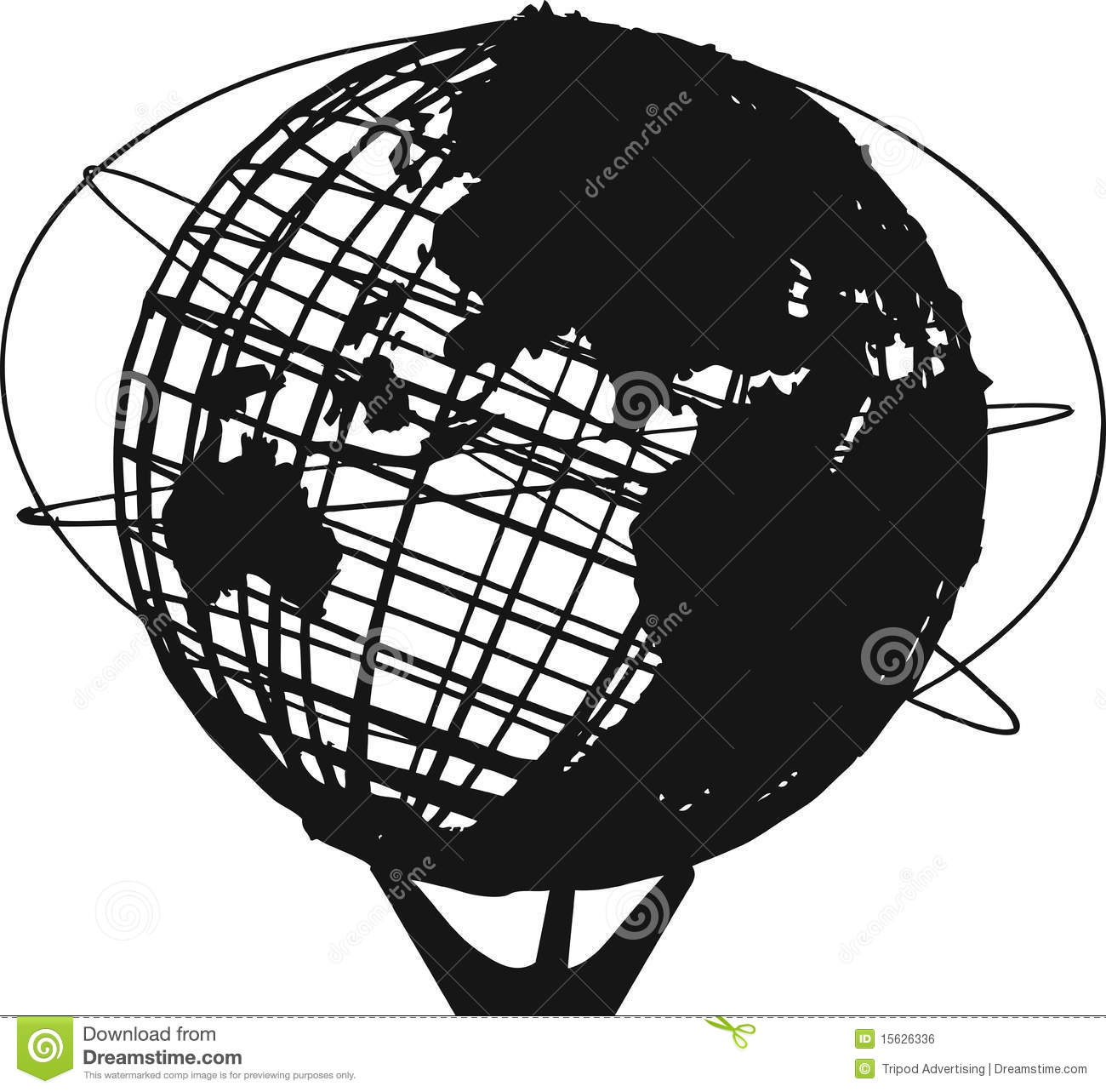 Unisphere Royalty Free Stock Image.