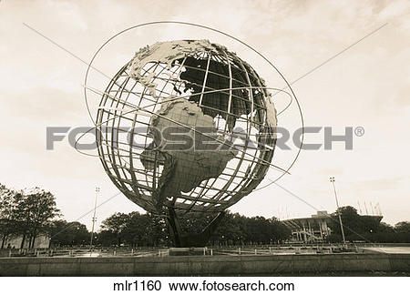 Stock Photography of Unisphere globe, Flushing Meadow Corona Park.