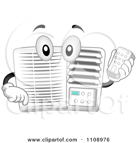 Clipart 3d Ductless Wall Air Conditioner Unit.