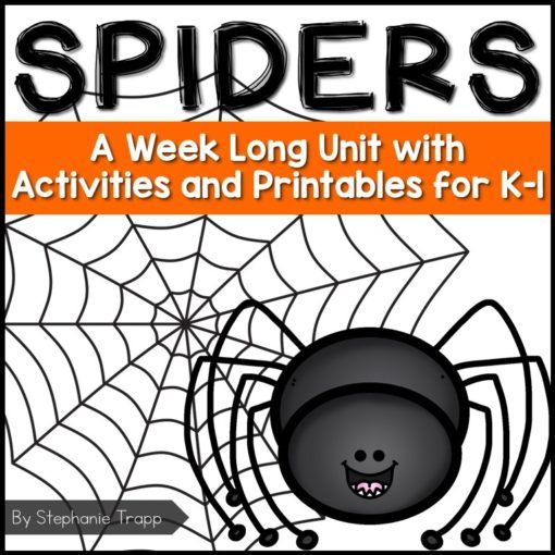 Spider Unit for Kindergarten and First Grade.