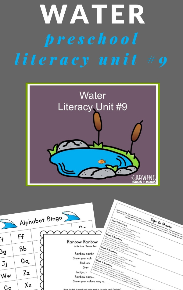 Literacy Rich Water Lesson Plans for Preschoolers.