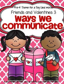 Valentine\'s Day Ways We Communicate Centers & Activities.