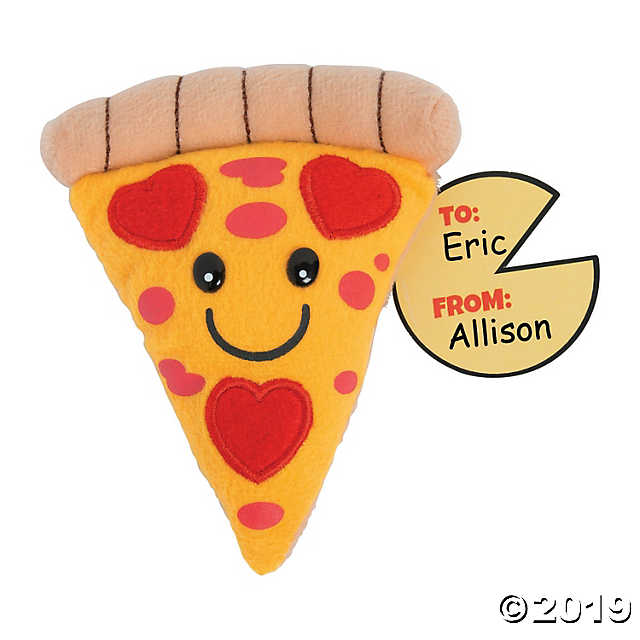 Valentine's Day Plush Pizza Slices with Card.