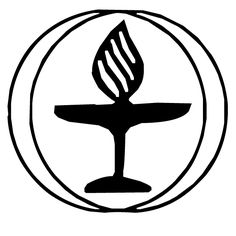 Variation of the UU Chalice symbol; shaped like a heart. Designed.