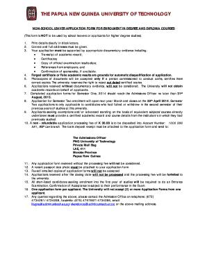 Polytechnic Application Form 2018.