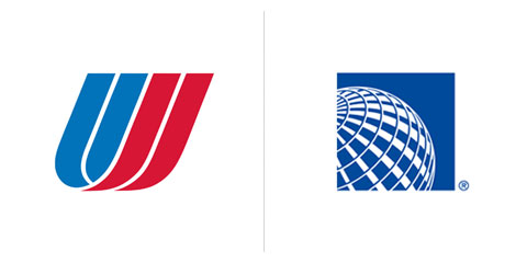 United airlines old Logos.