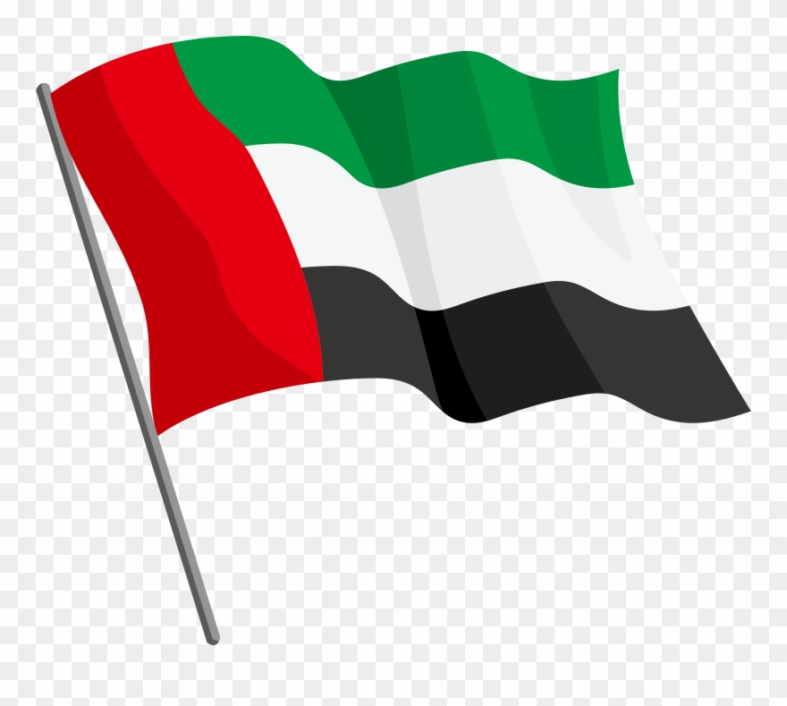 The United Arab Emirates Clipart Flag.