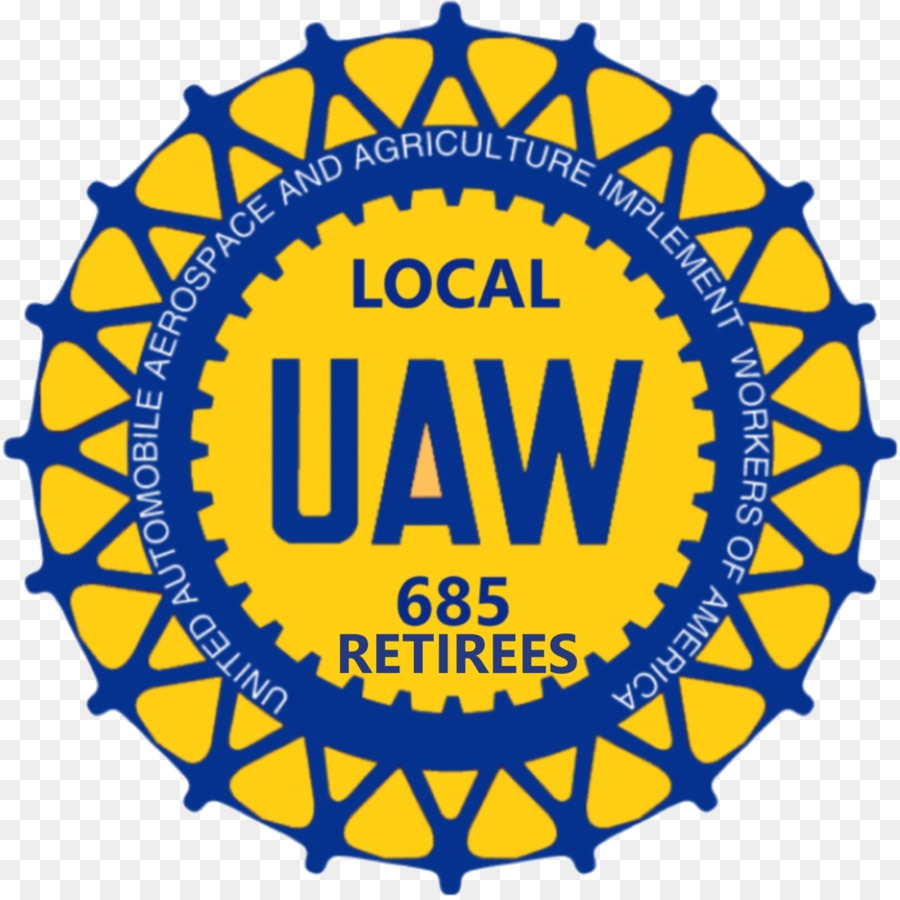 Uaw Yellow png download.