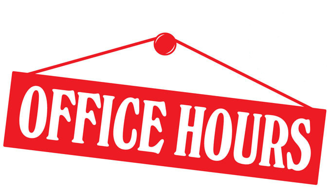 New Church Office Hours Commencing in January.