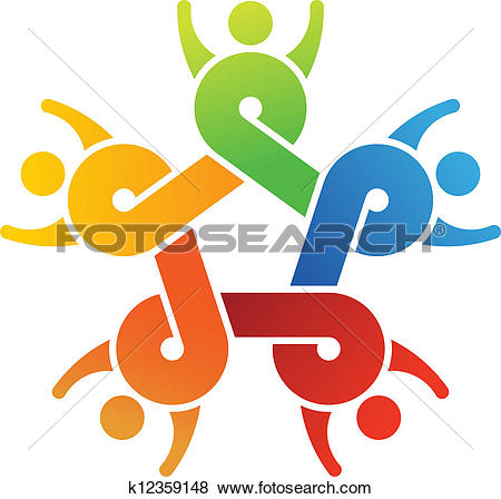 Clip Art of Teamwork United k12359148.