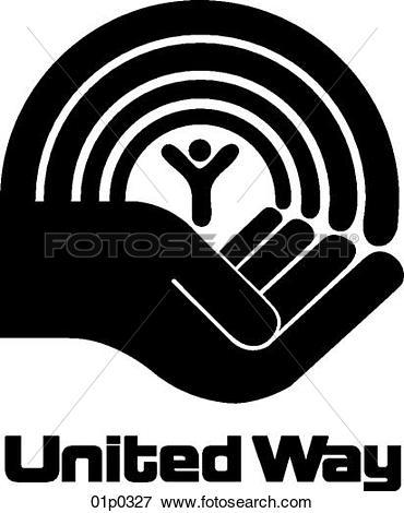 Clip Art of united way 01p0327.