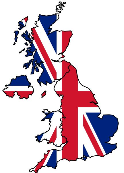 Map United Kingdom Clipart.