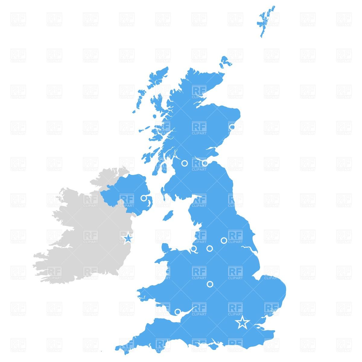 Blank united kingdom clipart map.