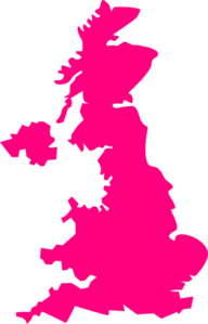 United Kingdom Pink Map Uk Clip Art at Clker.com.