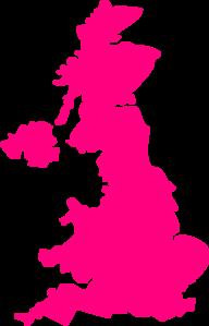 United Kingdom Pink Map Uk Clip Art at Clker.com.