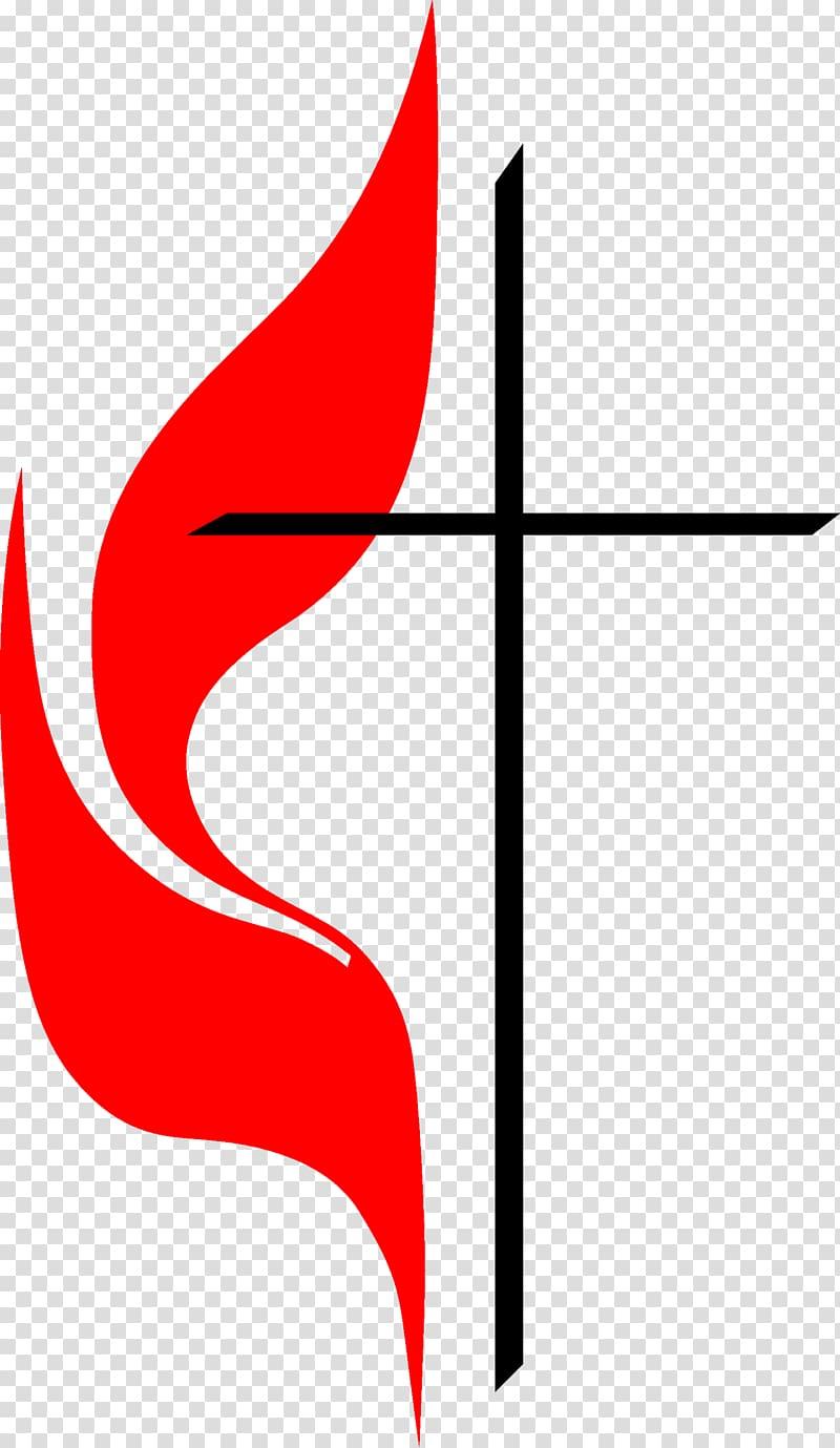 First United Methodist Church Preschool Cross and flame.