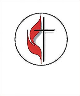United Methodist Cross and Flame Bulletin, Large (Pkg of 50.