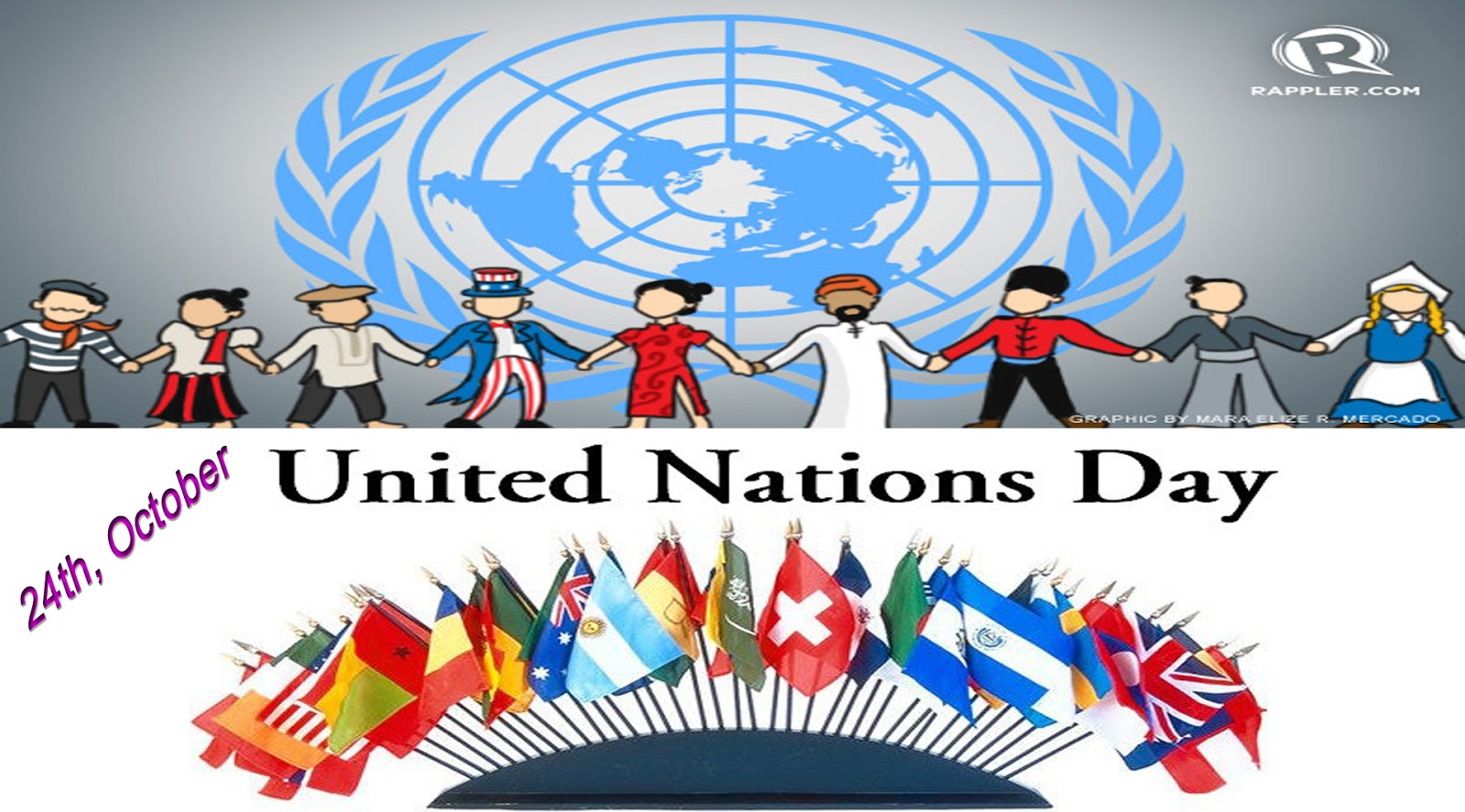 24th october United Nations Day united people clipart.