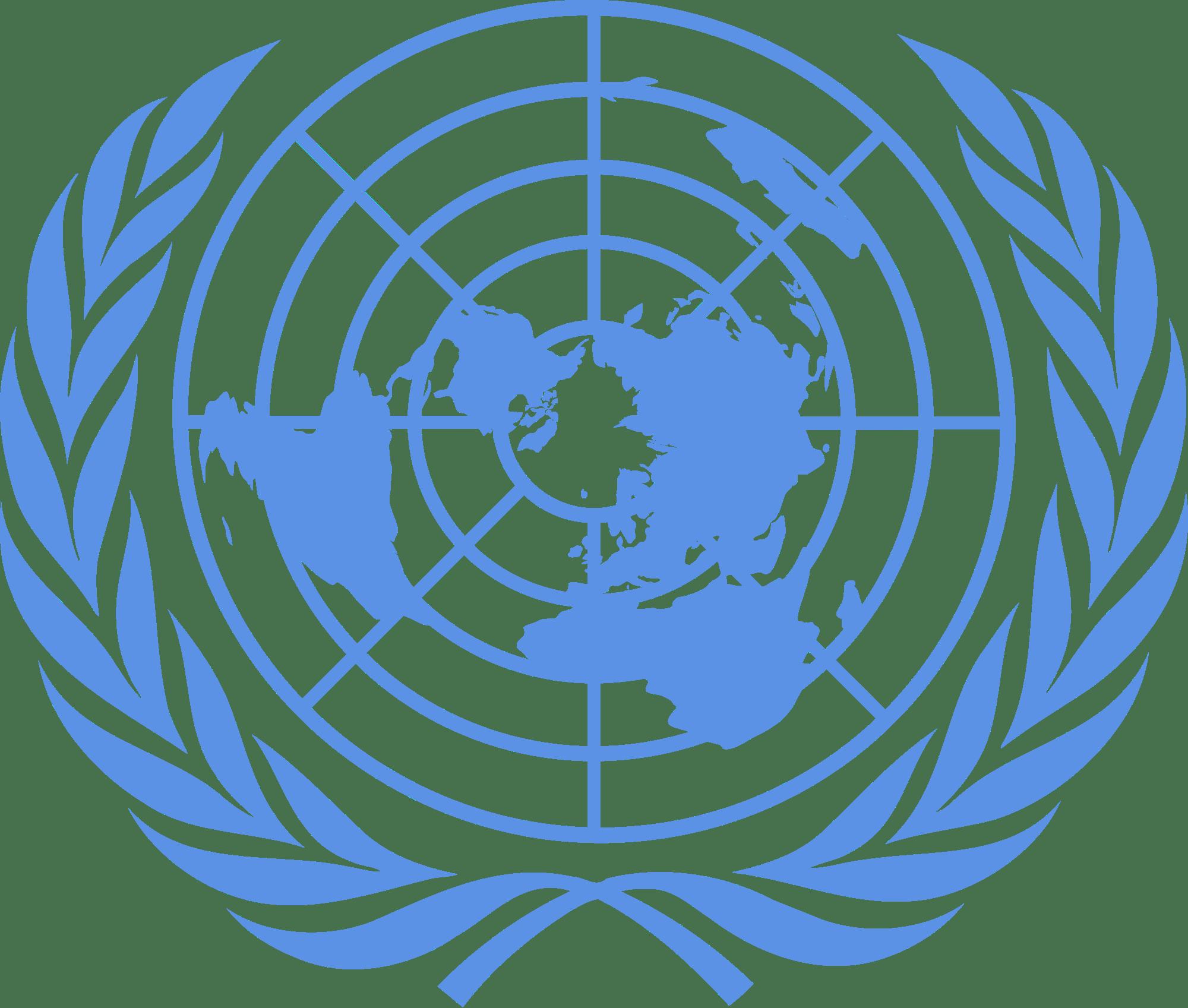 United Nations Emblem transparent PNG.