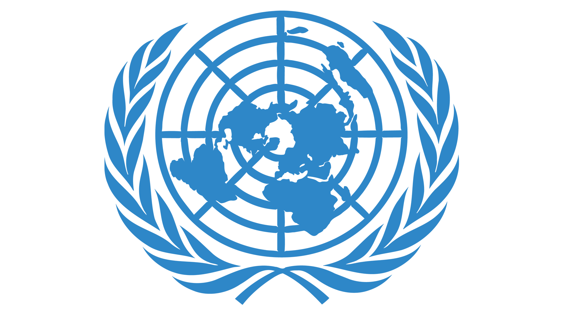 Meaning United Nations logo and symbol.