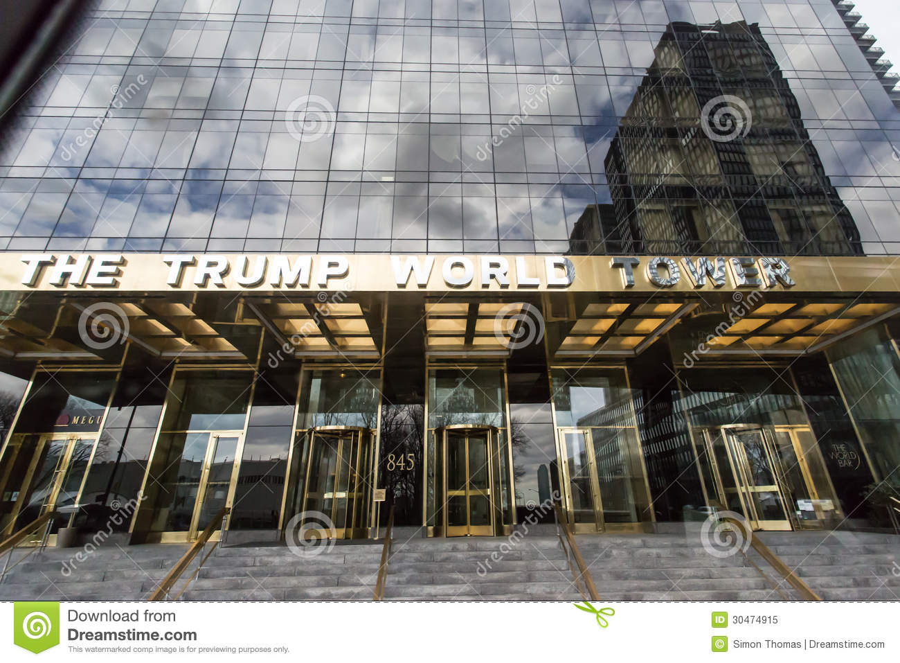 The Trump World Tower Editorial Image.