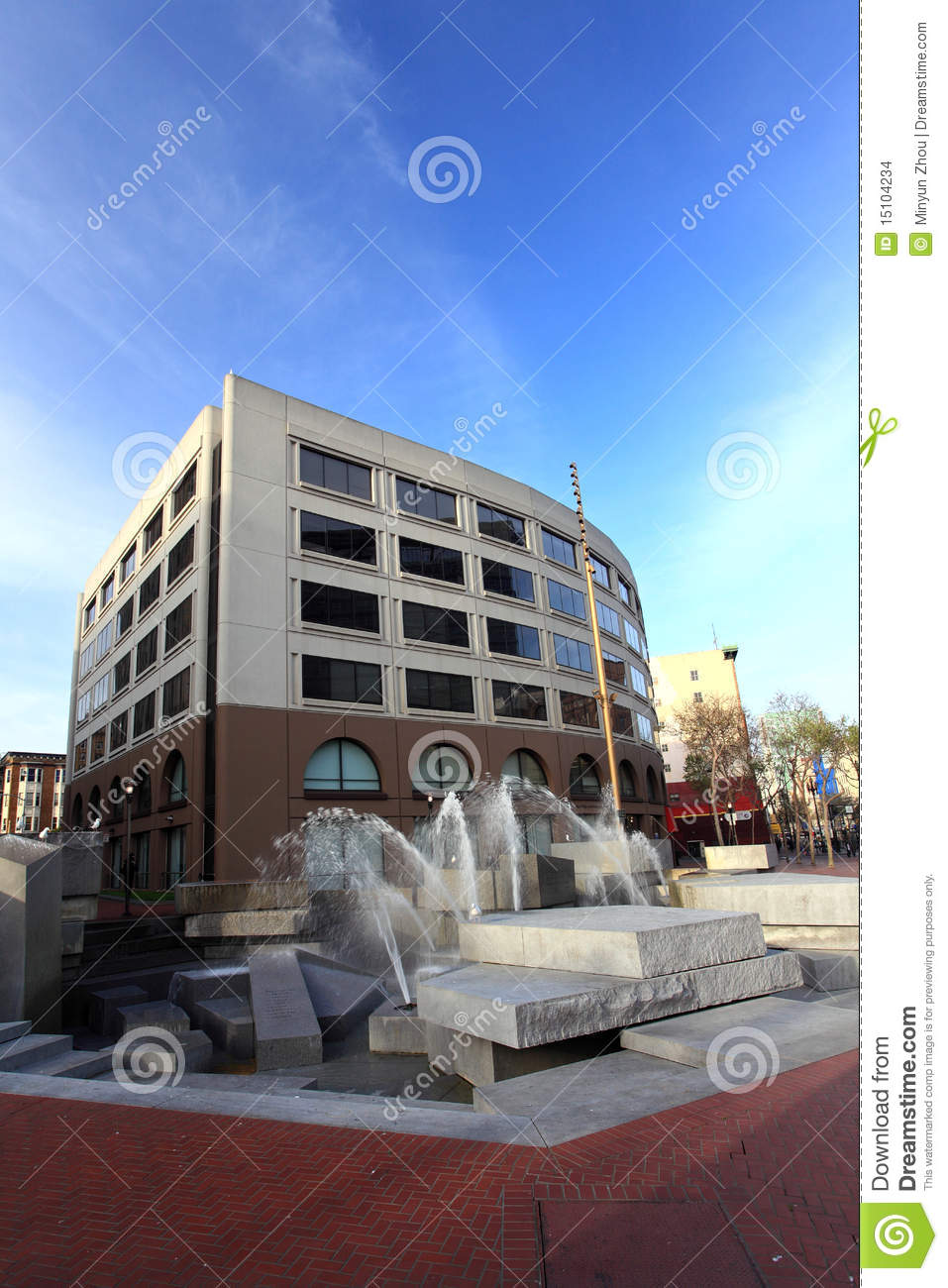 United Nations Plaza,San Francisco Editorial Stock Image.
