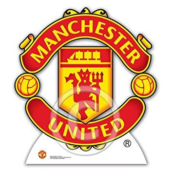 Manchester United Shield logo emblem badge ManU Man Utd Cardboard.