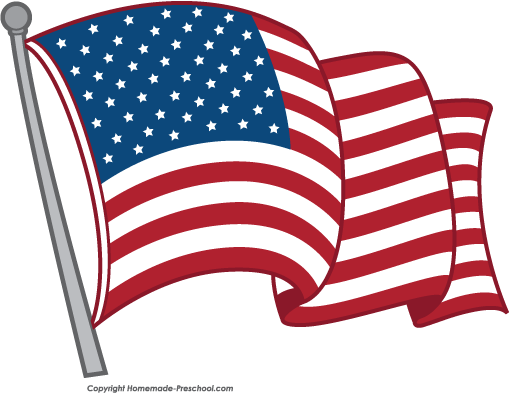 Free American Flags Clipart.