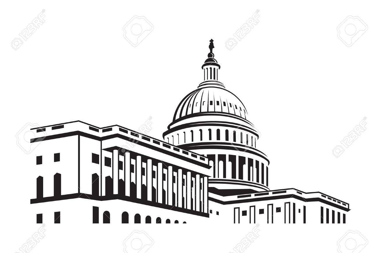United States Capitol building icon in Washington DC.