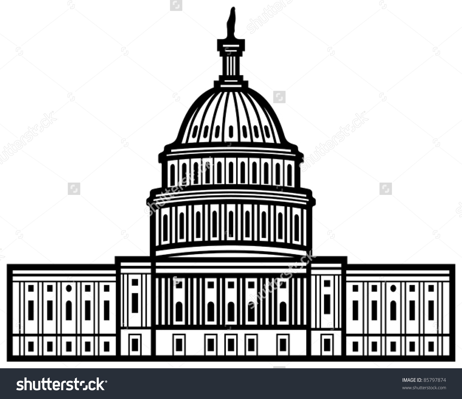 Us Capitol Dome Clipart.