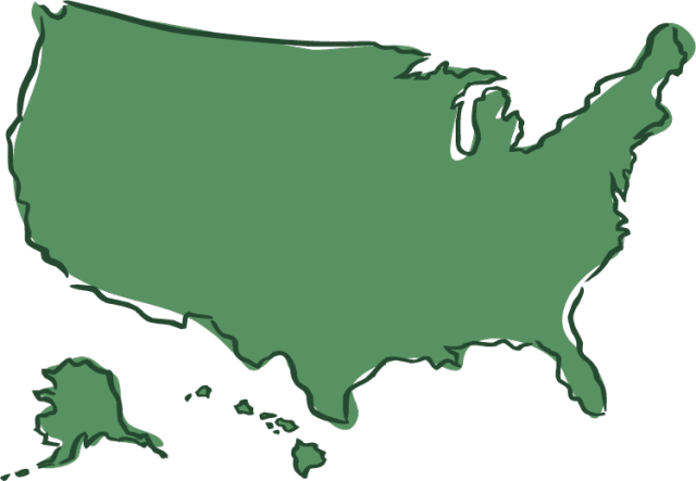 Clipart map of us states.