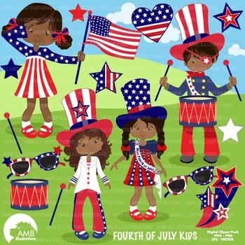 4th of July Clipart, Fourth of July clipart, Independence.