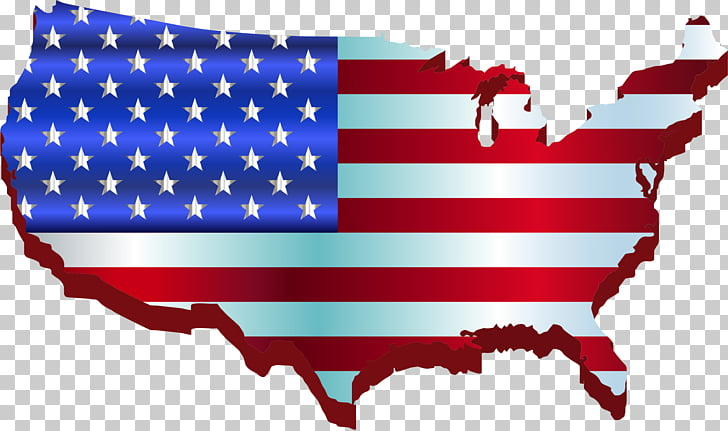 Flag of the United States Map , USA PNG clipart.