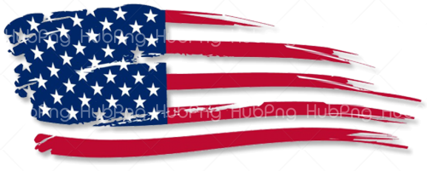 United States flag png clipart Transparent Background Image.