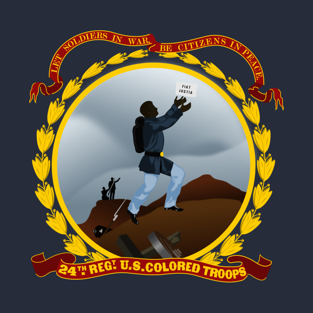 24th United States Colored Troops Flag.