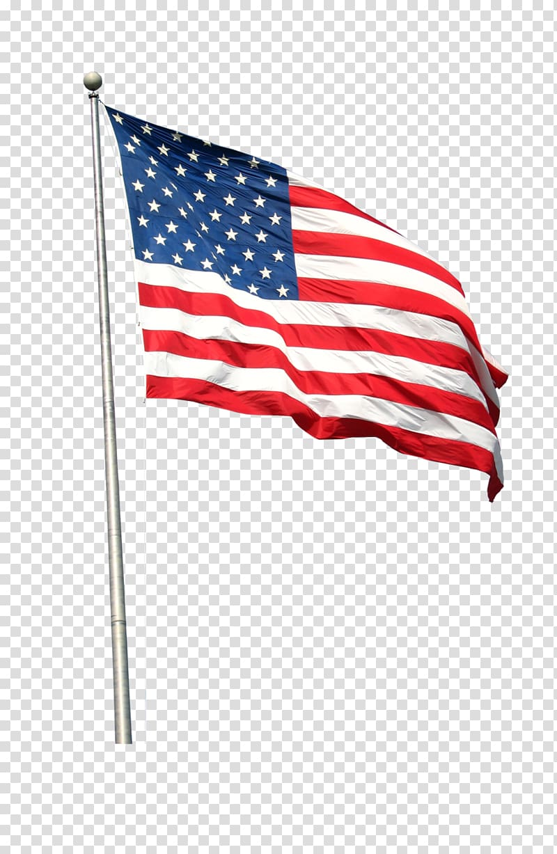 Flag of the United States Flagpole, pennant transparent.