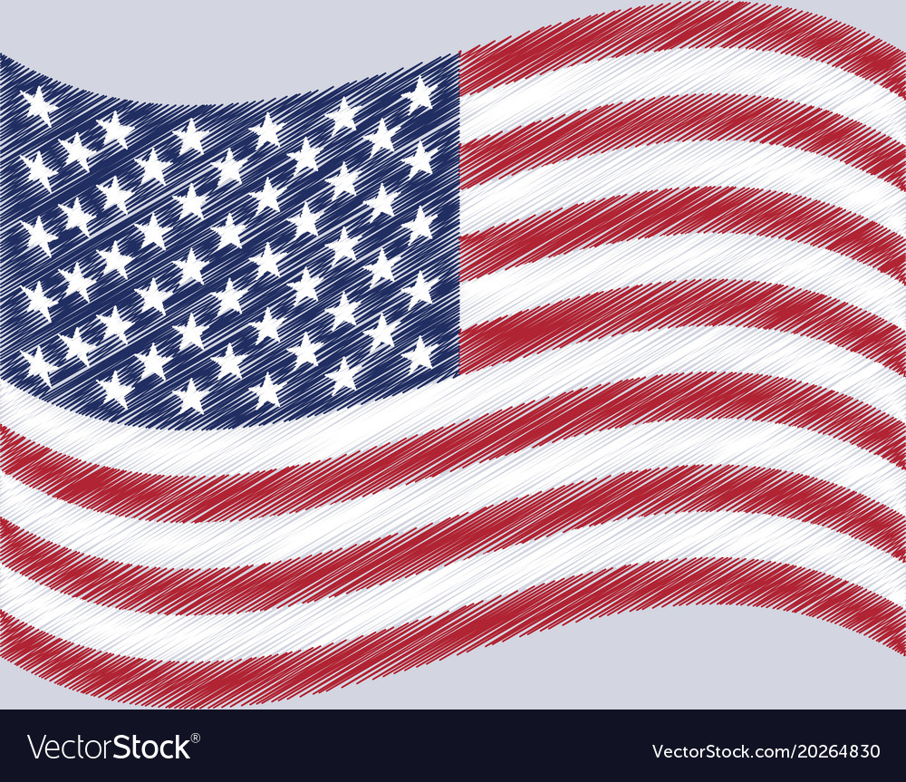 United states flag waving.