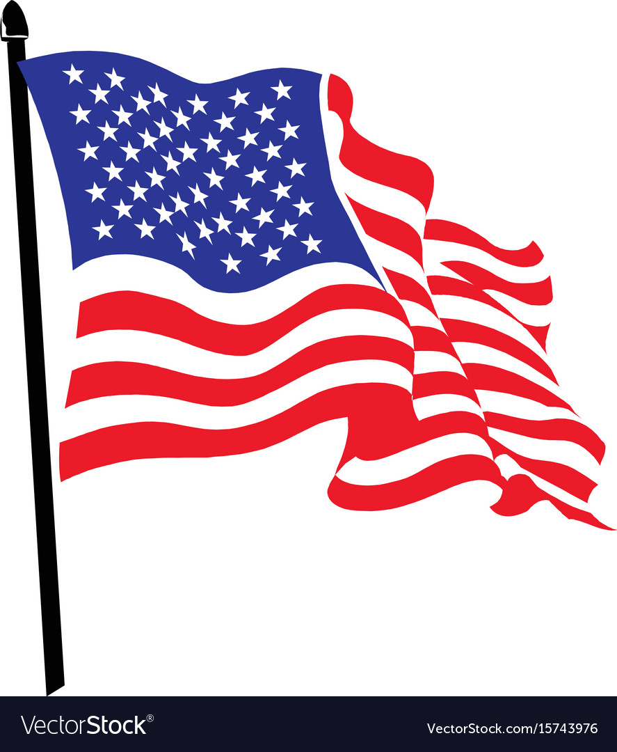 Waving american flag logo design.