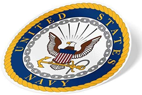 US Navy Emblem Logo Sticker Vinyl Decal Laptop Water Bottle.