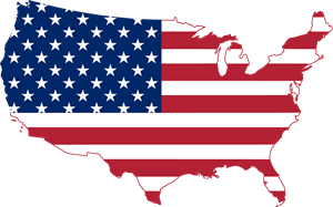 Flag map of the United States Logo Vector (.EPS) Free Download.