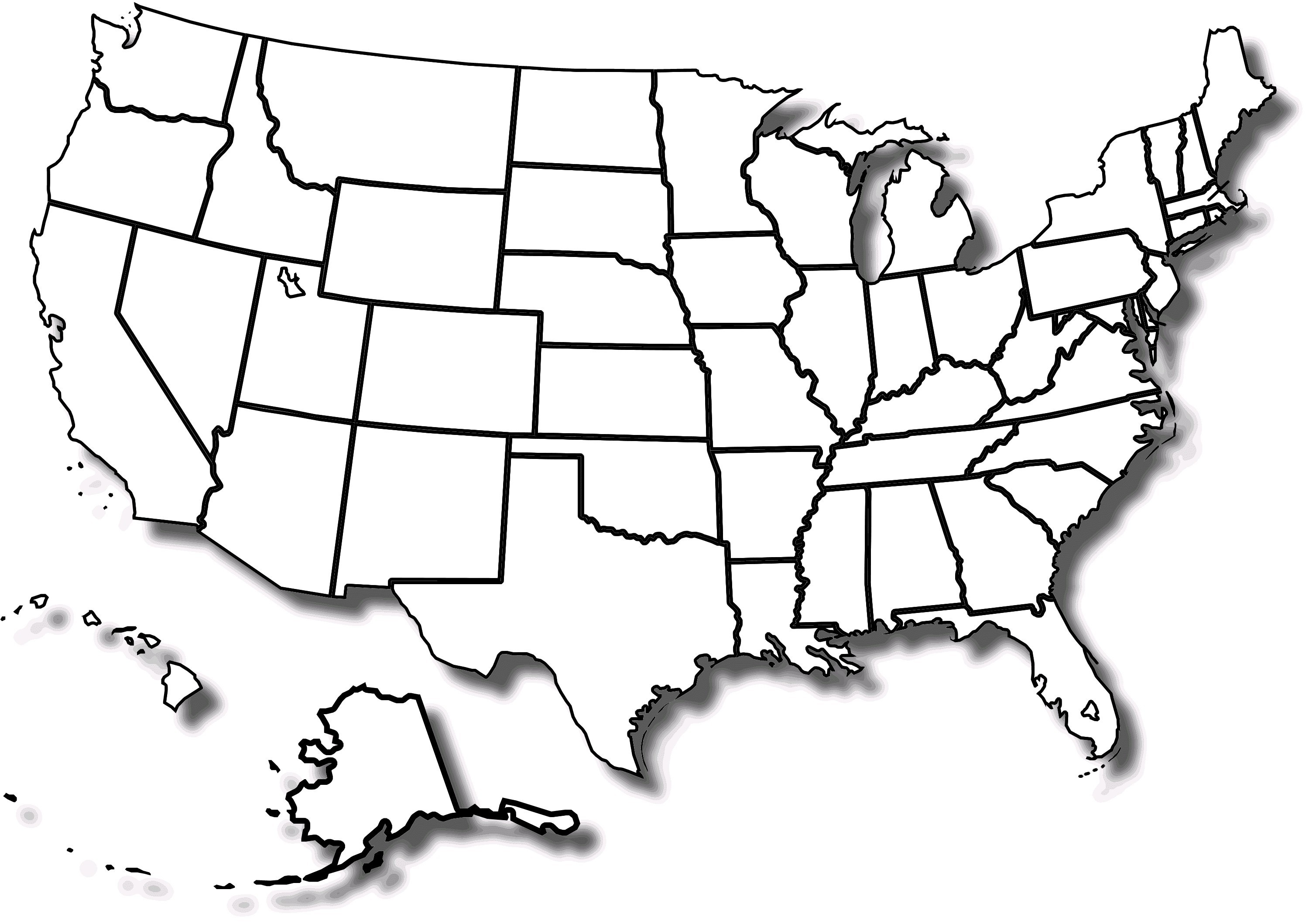 United States Map Clipart 7.