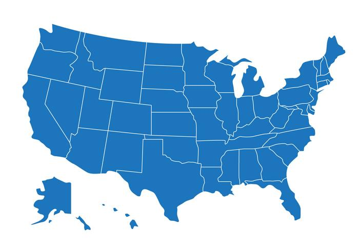 Us Map Free Vector Art.