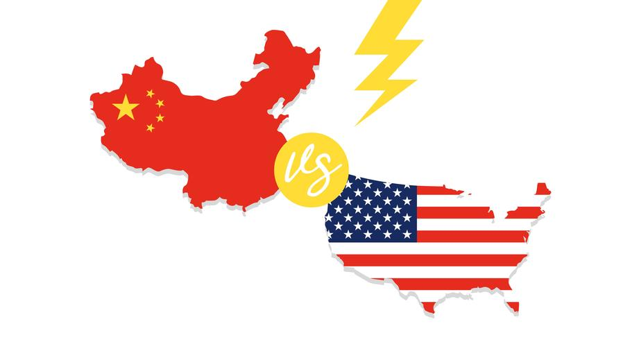 United states map and China map vector.
