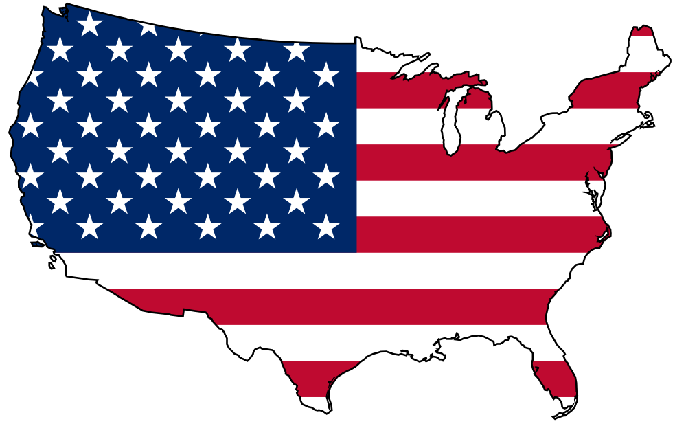 Flag of the United States Map Clip art.