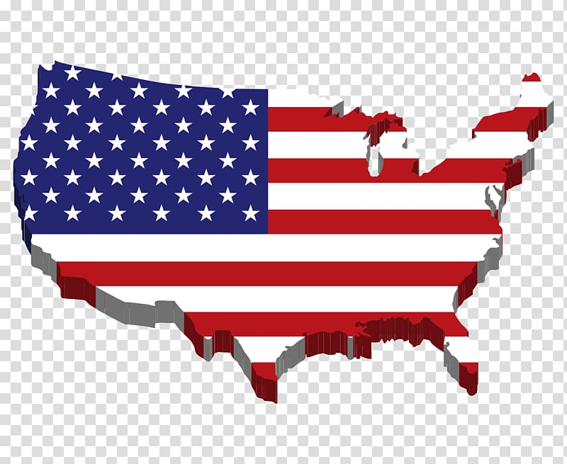 Flag of the United States Map , United States map.