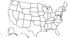 Free USA Map Outline Clipart and Vector Graphics.